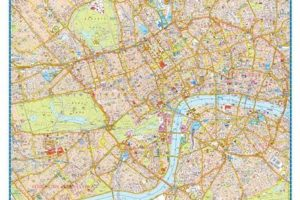 """""""London Super Scale A-Z Map"""" full layout"""