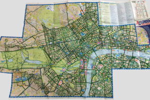 """Somewhere in the middle of """"London A-Z Map & Walks"""" map colouring progress"""