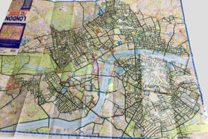 """London Super Scale A-Z Map"" colouring in progress"
