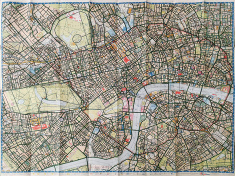 """Fully coloured """"London Super Scale A-Z Map"""""""