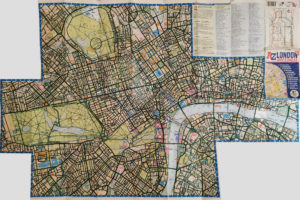 """Completed colouring of """"London A-Z Map & Walks"""" map of central London"""